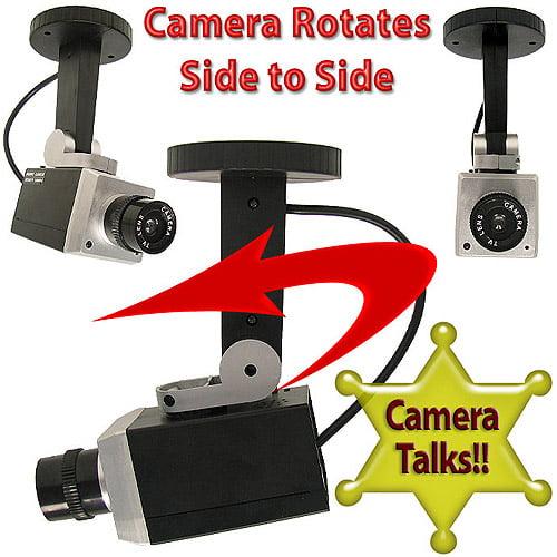 Trademark Simulation Security Camera with Talking Warnings