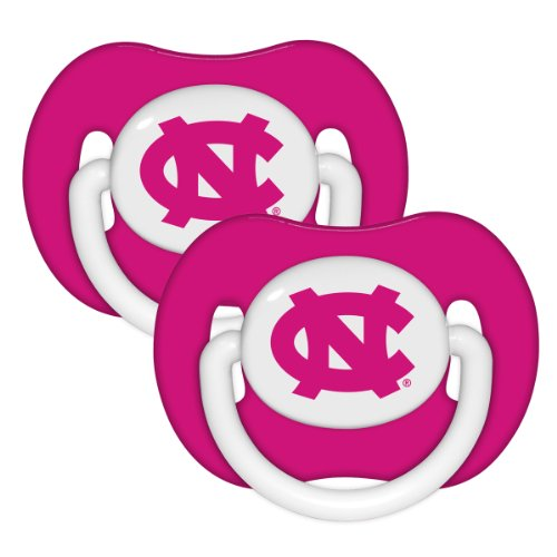 North Carolina Tar Heal Pink 2-pack Infant Pacifier Set - NFL Baby Pacifiers