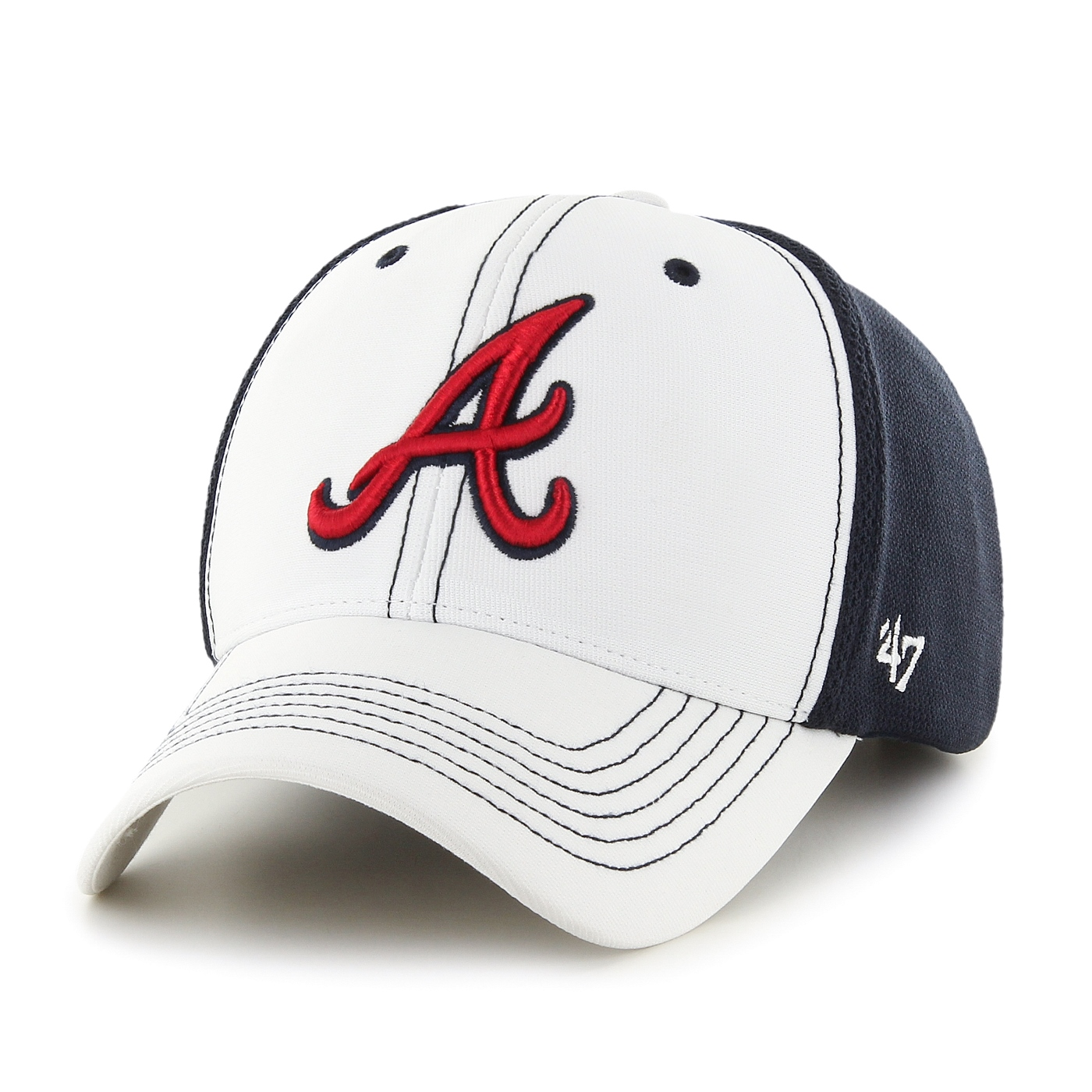 "Atlanta Braves 47 Brand MLB ""Cooler MVP"" Structured Adjustable 2 Tone Hat"