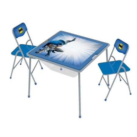 O'Kids Inc. Batman Kids 3 Piece  Arts and Crafts Table and Chair Set (Batman Table)