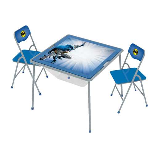 O'Kids Inc. Batman Kids' 3 Piece Square Table and Chair Set