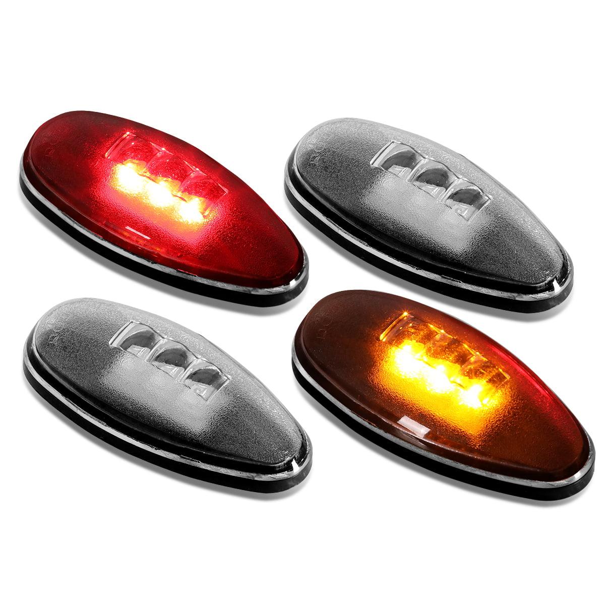 For 2001-2014 Chevy Silverado/GMC Sierra LED Dually Bed Fender Side Marker Light Set 03 04 05 06 07 08 09 10 11 12 13