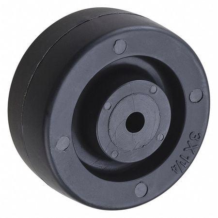 Caster Wheel,Polyolefin,3 in.,210 lb. ZORO SELECT 26Y398