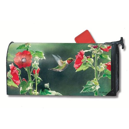Mailbox Cover MailWrap Birds (Hummingbird Delight), This MailWraps magnetic mailbox cover is pre-cut to fit a standard (T1) rural mailbox 6 1/2 wide x 19.., By Studio - Catalogs By Mail