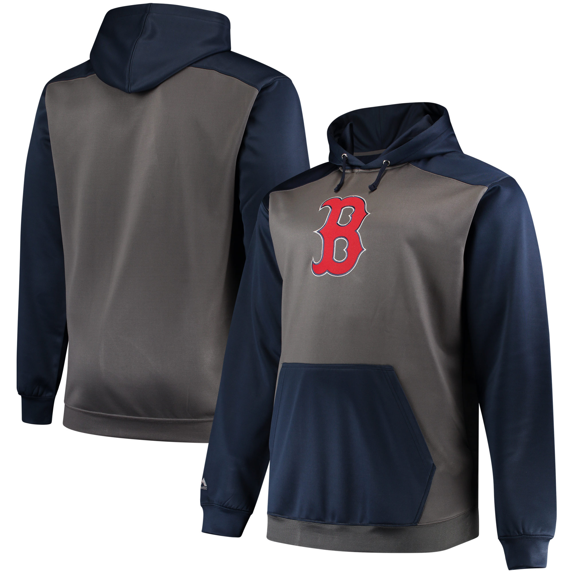 Boston Red Sox Majestic Fleece Hoodie - Charcoal/Navy