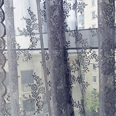 Flower Sheer Curtain Tulle Window Treatment Voile Drape Valance 1 Panel Fabric ()