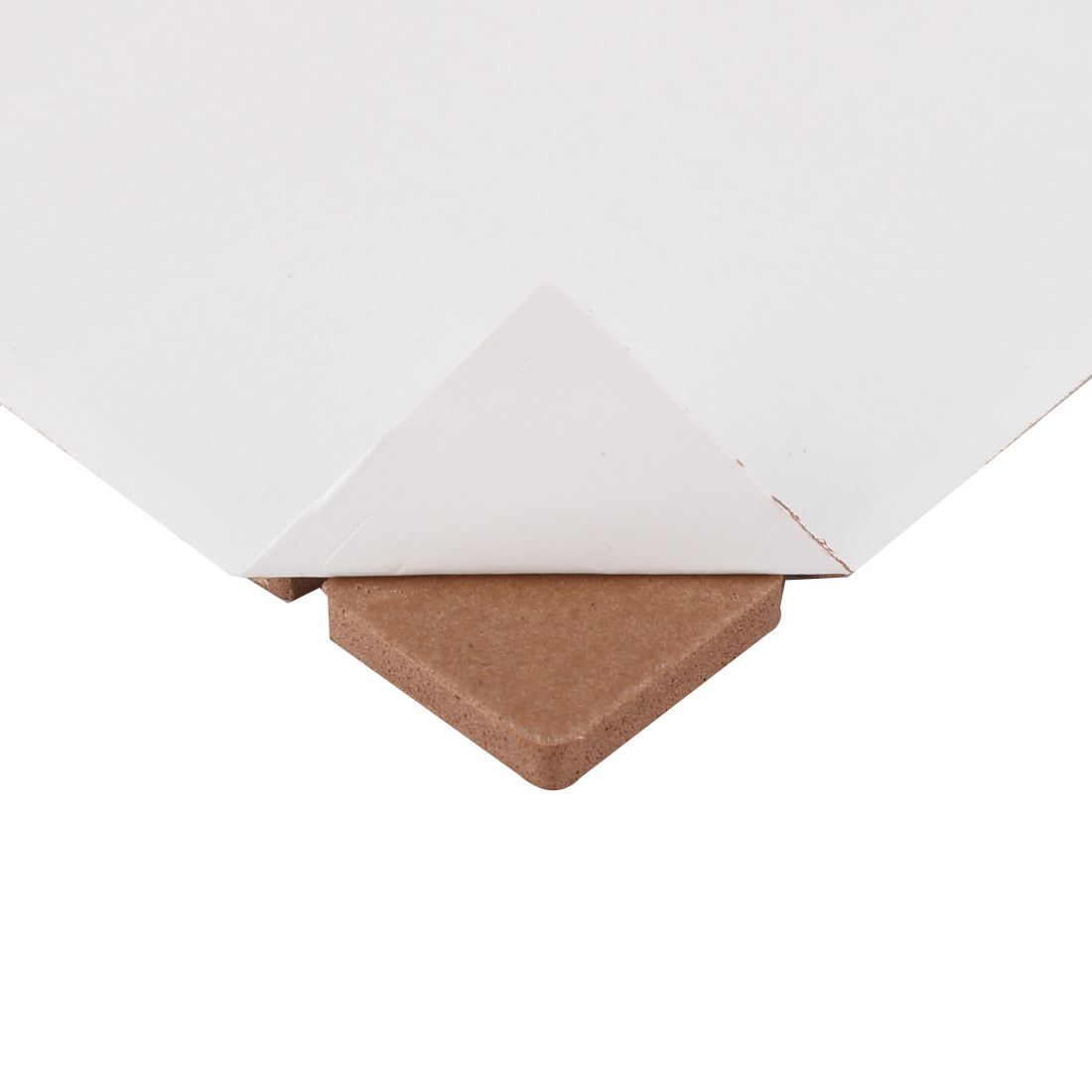 Table Chair EVA Square Self Adhesive Furniture Feet Pads Brown 18 x 18mm 32pcs - image 1 of 2