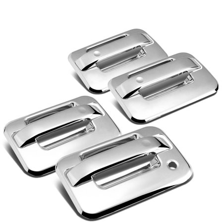 For 2004 to 2014 Ford F-150 11th Gen 4 -Door Exterior Body Kit (Chrome Door Handle Cover) 05 06 07 08 09 10 11 12 13 08 Chrome Door Pillars Posts