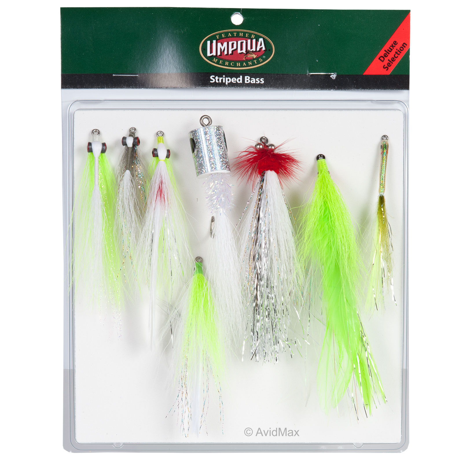 Umpqua Striped Bass Fly Fishing Deluxe and Guide Fly Selections Assortments