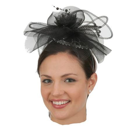 Black-Silver Fascinator Headband J26406 - Walmart.com bff811b9e5c