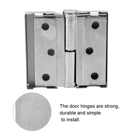 Domqga Doors Bearings, Bearing Door Hinge, MY-4*3 Thicker Stainless Steel Zinc Alloy Bathroom Internal Doors Bearings Folding Door Hinge - image 3 of 6