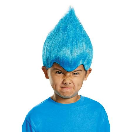 Women's Dark Blue Troll Wacky Wig Child - Wacky Wigs