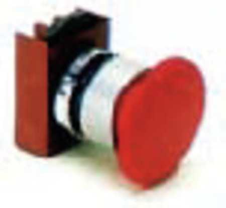 Non-Illum Push Button Operator,22mm,Red GE P9CER4RN