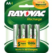 AA 4-Pack RECHARGEABLE Batteries, LD715-4OP GENE, RECHARGEABLE LD7244OP Heavy Size Recharge Rechargeable NiMH 2300 Battery Pack Plus 2400mAh.., By Rayovac