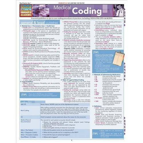 Medical Coding Laminated Reference Guide