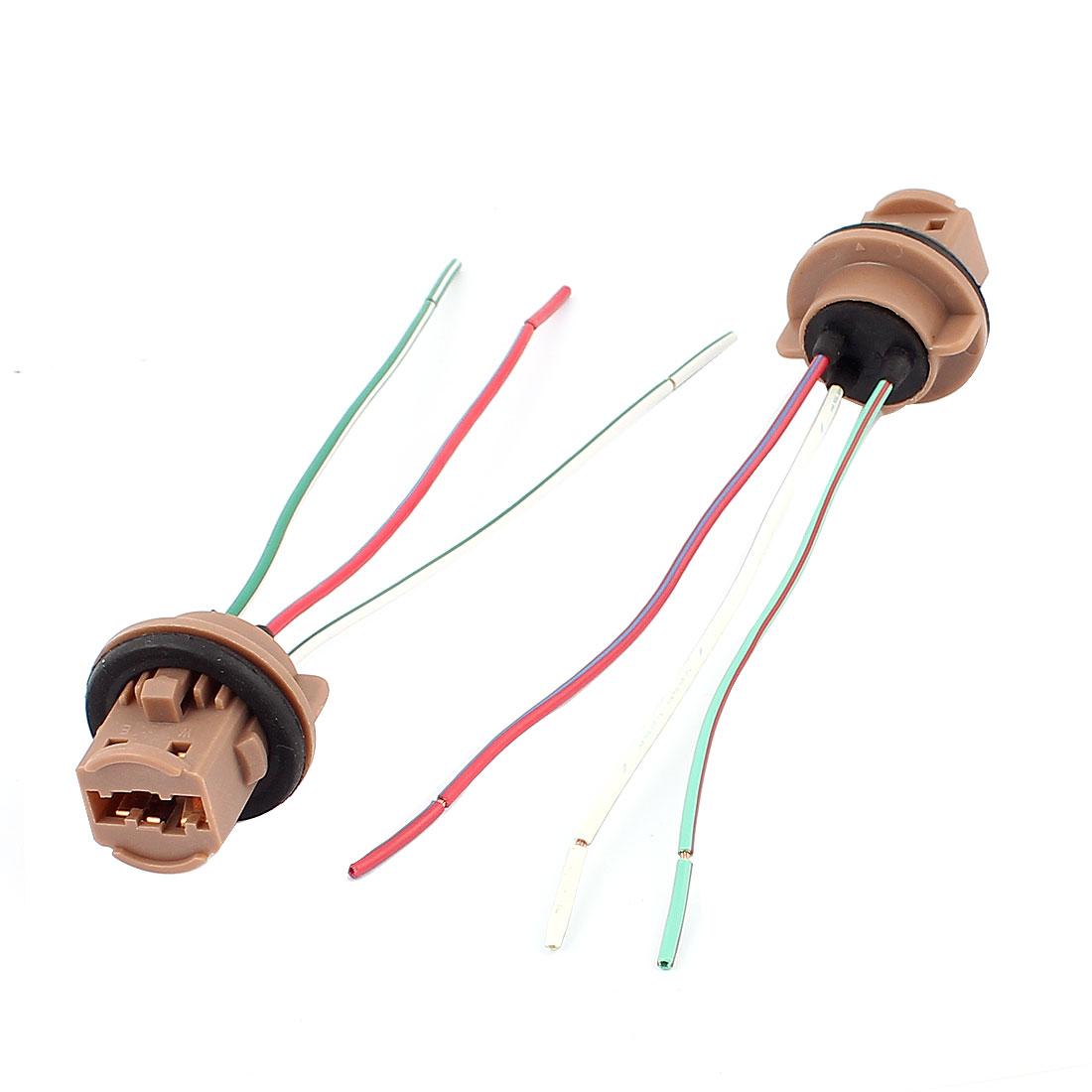Car Turn Signal Light Bulb T20 Socket Wiring Wire Harness Connector 2Pcs