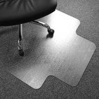 "Cleartex Advantagemat PVC Rectangular Lipped Chair Mat for Low Pile Carpets 1/4"" or less (36"" X 48"")"