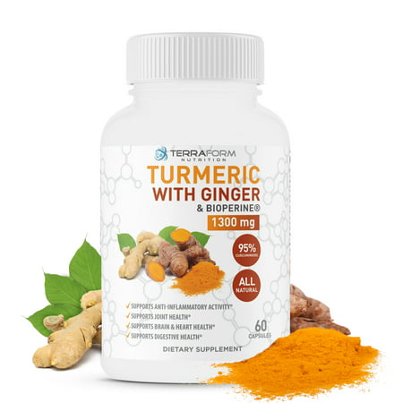 Turmeric Curcumin with Ginger & BioPerine – Supports Knee Pain Relief, Joint Pain Relief, Anti-Inflammatory and Antioxidant- Made in the USA - For Men & Women - 1 (Best Anti Inflammatory For Knee Pain)