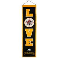 Pittsburgh Pirates 8'' x 32'' Love Banner
