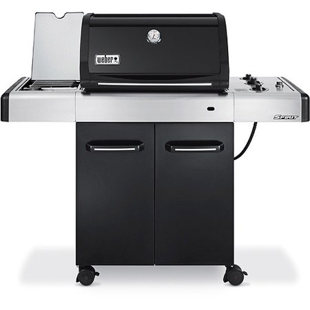 weber spirit e 320 36 000 btu 3 burner lp gas grill w side burner black. Black Bedroom Furniture Sets. Home Design Ideas