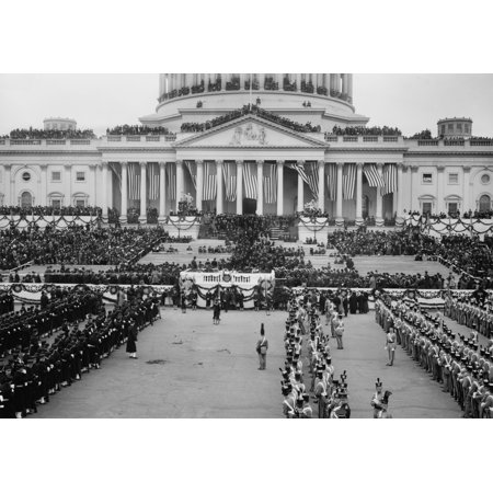 The East Front Of The Capitol And Plaza On Woodrow Wilsons Inauguration Day History