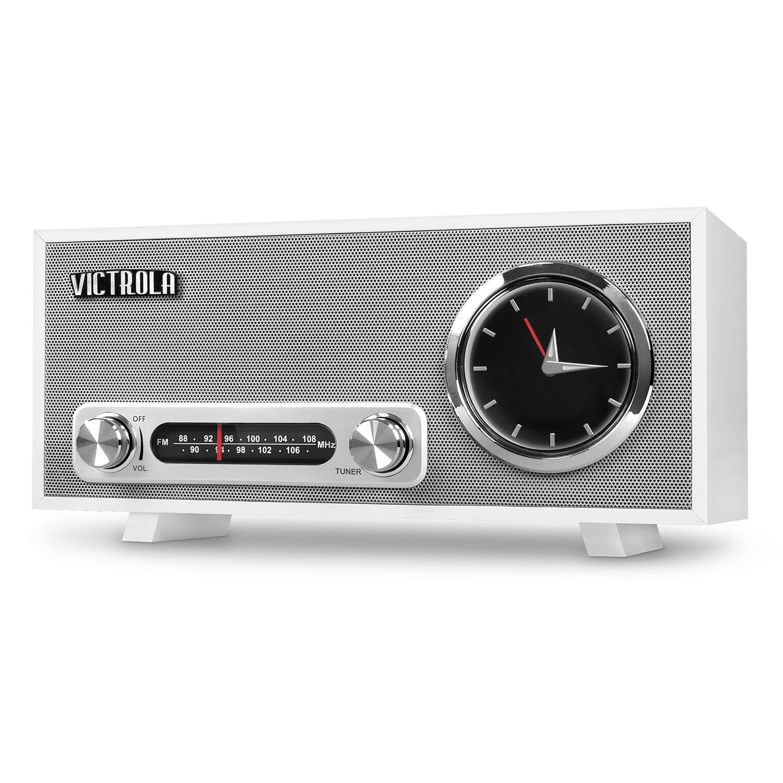 Victrola Bluetooth Analog Clock Stereo with FM Radio