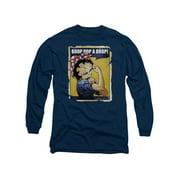 Betty Boop Cartoon Power Adult Long Sleeve T-Shirt Tee