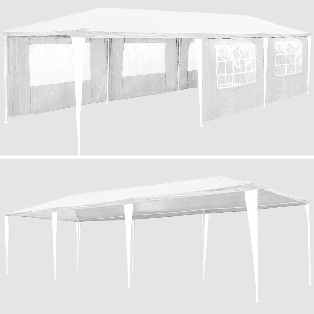 Gymax White Wedding Tent 10'x30'Outdoor Party Canopy Events - image 7 of 10