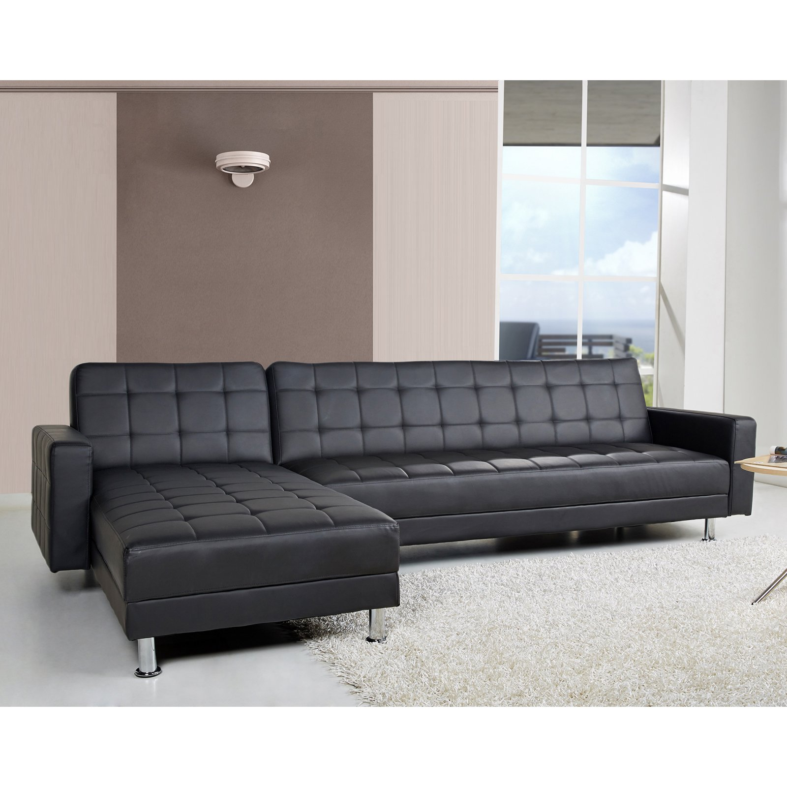 Gold Sparrow Frankfort Convertible Sectional Sofa  sc 1 st  Walmart : convertible sectional sofa - Sectionals, Sofas & Couches