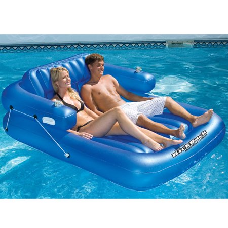 Kickback Double Adjustable Lounger Swimming Pool Float ...