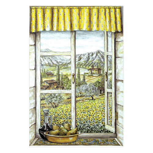 Stupell Industries Provence with Pears Faux Window Scene Painting Print Plaque