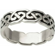 Men's Sterling Silver Celtic Knot Fashion Ring, 6mm