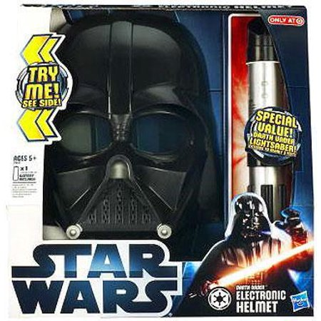 Star Wars Roleplay Toys Darth Vader Electronic Helmet & Lightsaber (Star Wars Darth Vader Helmet)