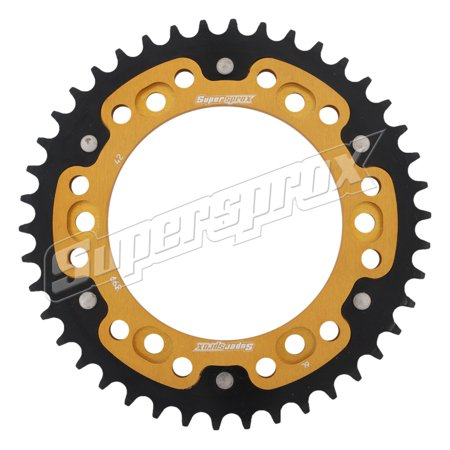 New Supersprox - Gold Stealth Sprocket, 42T, Chain Size 525, Rst-899-42-Gld