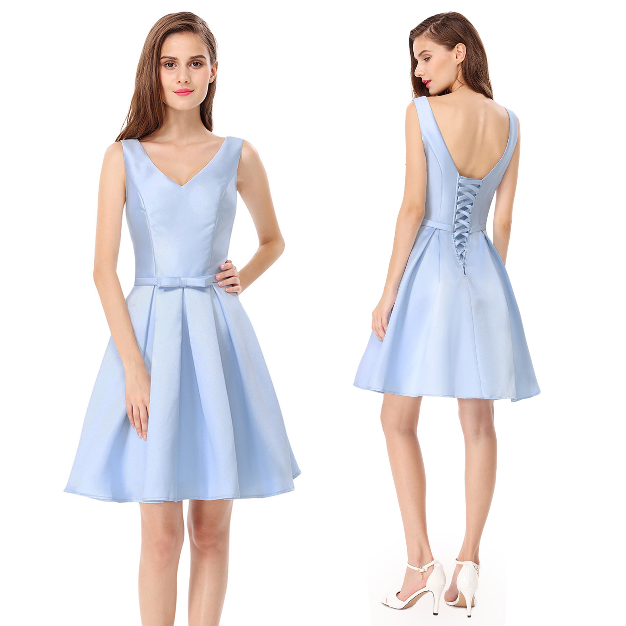 Ever-Pretty Blue Bridesmaid Dress Short Homecoming Cocktail Party Dresses 05564