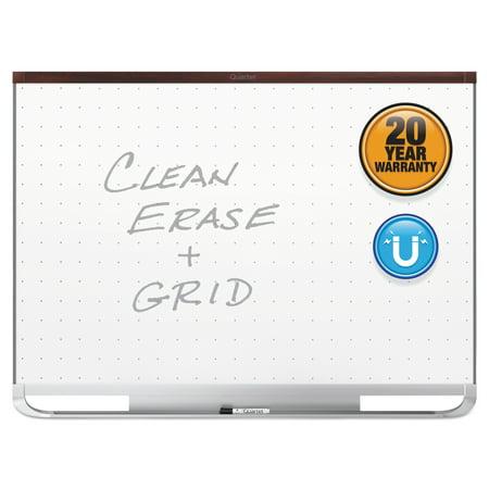 - Quartet Prestige 2 Magnetic Total Erase Whiteboard, 72 x 48, Mahogany Frame -QRTTEM547M