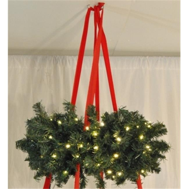 Queens of Christmas WL-BSWR-48 48 inch Hanging Basket Wreath - 714 Tips