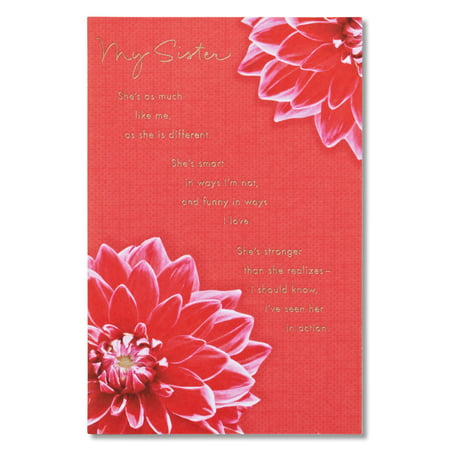 American Greetings Birthday Card For Sister With Foil