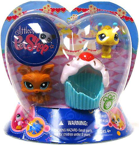 Littlest Pet Shop Valentines Day Bee & Dog Figure 2-Pack [Cupcake] - Littlest Pet Shop Cupcakes