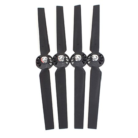 2 Pairs Nylon Fiber Propellers Prop Blades Set A+B for YUNEEC Typhoon Q500+ Q500 4K RC Quadcopter Drone Spare Replace Parts 2CW 2CCW Rotor Blades (Black)