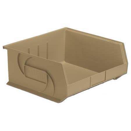 Lewisbins 40 lb Capacity, Hang and Stack Bin, Stone PB1416-7 (Central Pneumatic 40 Lb Capacity Floor Blast Cabinet)