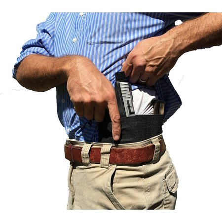 AlphaHolster Belly Band Hand Gun Holster - Abdomen Holster - Cross Draw - Any Gun - Any Clothing - Right or Left Hand - Men or Woman (White, (Best Cross Draw Concealment Holster)