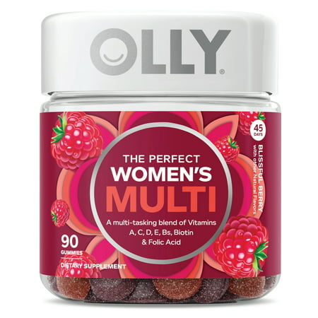 OLLY The Perfect Womens Multi Multivitamin Gummies Berry 90 (Best Gummy Vitamins For Women)