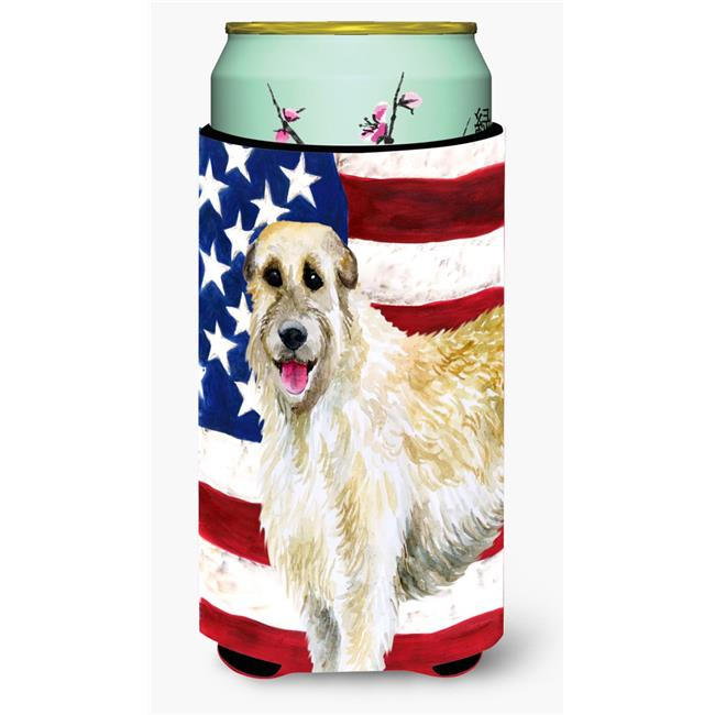 Irish Wolfhound Patriotic Tall Boy Beverage Insulator Hugger - image 1 of 1