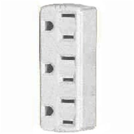Wiring Electrical Outlets - Cooper Wiring 1147W-BOX 3 Outlet 3 Wire Ground Adapter - White