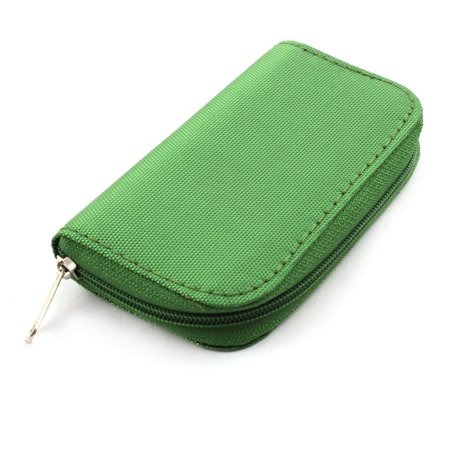 Nylon 22 Slots Storage Carrying Pouch Case Green for CF Micro SD Memory Card - image 2 of 4