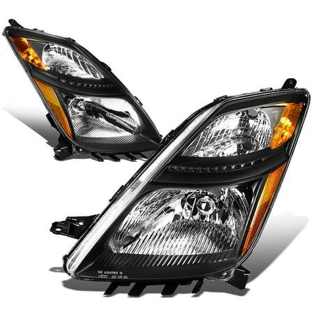 For 2006 to 2009 toyota Prius Headlight Black Housing Amber Corner Headlamp 07 08 XW20 Hybrid 2nd Gen Left+Right