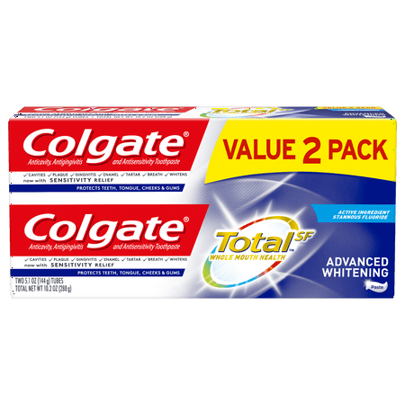 Colgate Total Coupons (Colgate Total Whitening Toothpaste, Advanced Whitening, 5.1 oz. 2-pack-)
