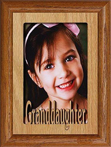 2 Sizes 4x6 /& 5x7 /'Best Grandad Ever/' Oak Veneer Wooden Photo Frame