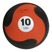 Ten-Pound FitBALL MedBall in Orange w Textured Surface